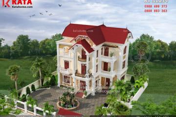 Nhà 3 tầng kết hợp mái Thái tân cổ điển tại Hà Nam – Mã số: BT 31034