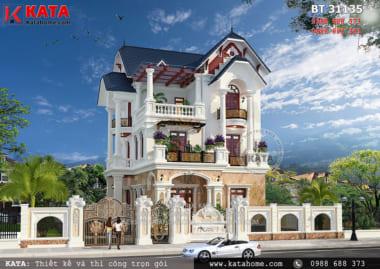 Mẫu nhà mái thái kiểu biệt thự tân cổ điển tại Thái Bình
