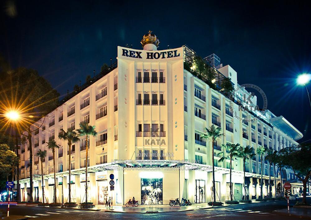 Không gian ngoại thất của khách sạn REX (3)