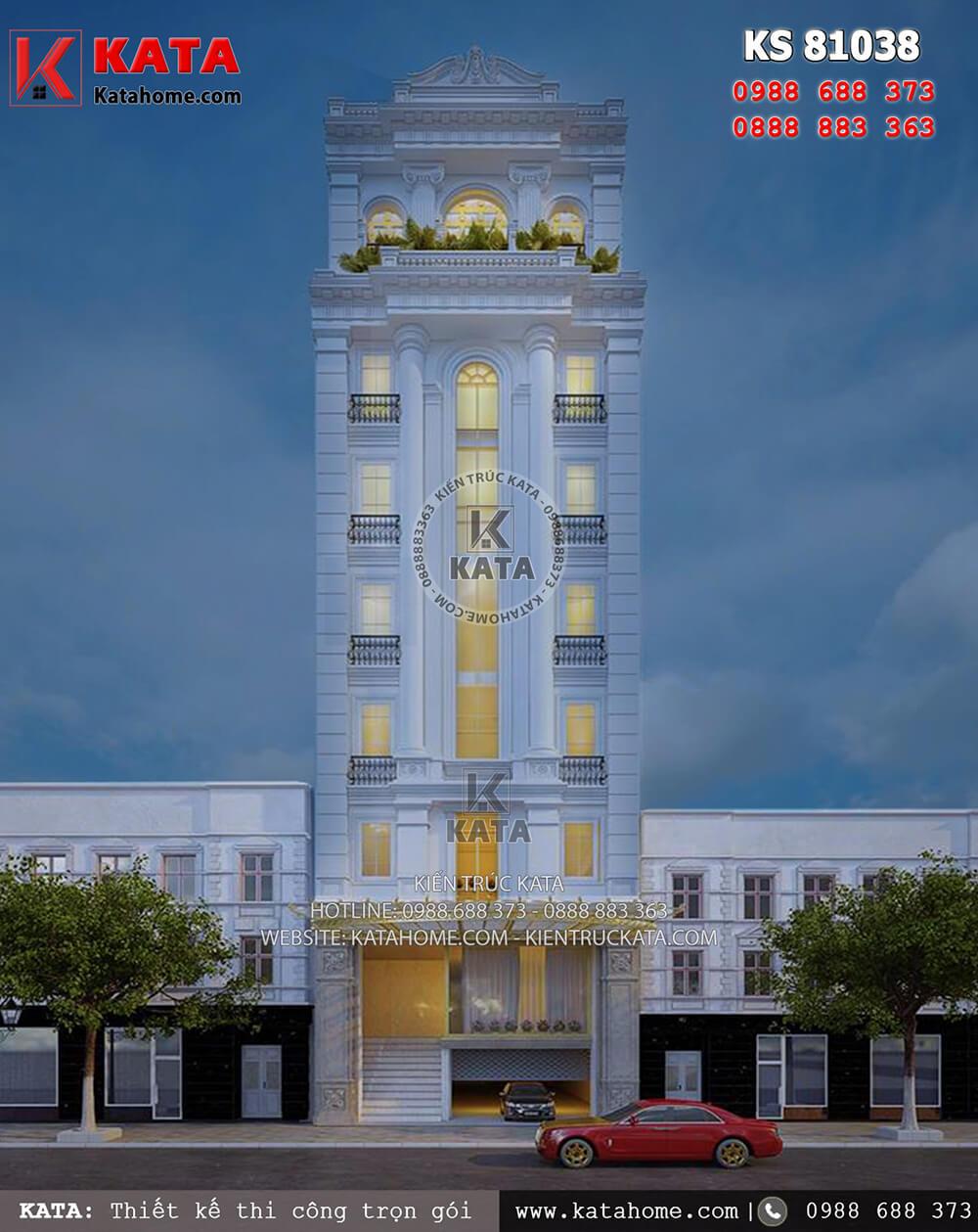 Mẫu khách sạn 3 sao đẹp 7 tầng tại Quảng Ninh - Mã số: KS 81038