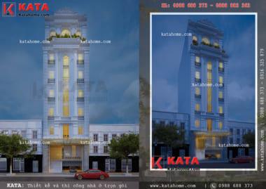 Mẫu khách sạn 3 sao đẹp 7 tầng tại Quảng Ninh lung linh dưới mọi góc nhìn