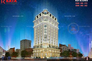 Phối cảnh 3D chi tiết của mẫu thiết kế khách sạn 5 sao tân cổ điển Pháp - Mã số: KS 81065