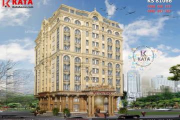 Phối cảnh 3D chi tiết của mẫu thiết kế mặt bằng khách sạn 5 sao theo phong cách kiến trúc tân cổ điển - Mã số: KS 81066