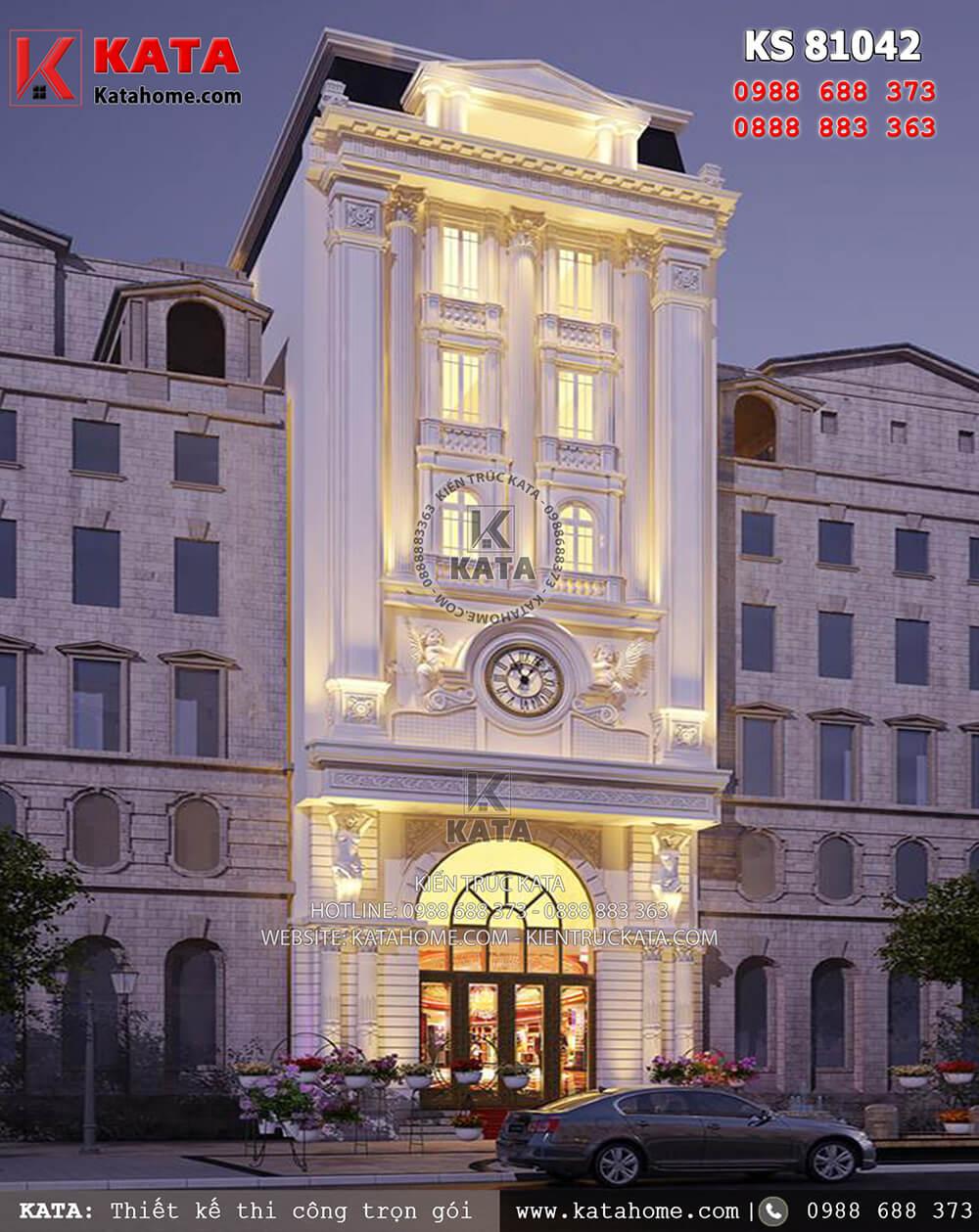 Một góc nhìn của mẫu khách sạn đẹp 3 sao tân cổ điển tại Đà Nẵng