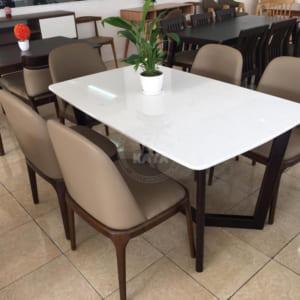 Bộ bàn ăn Concorde mặt đá trắng đẹp giá rẻ