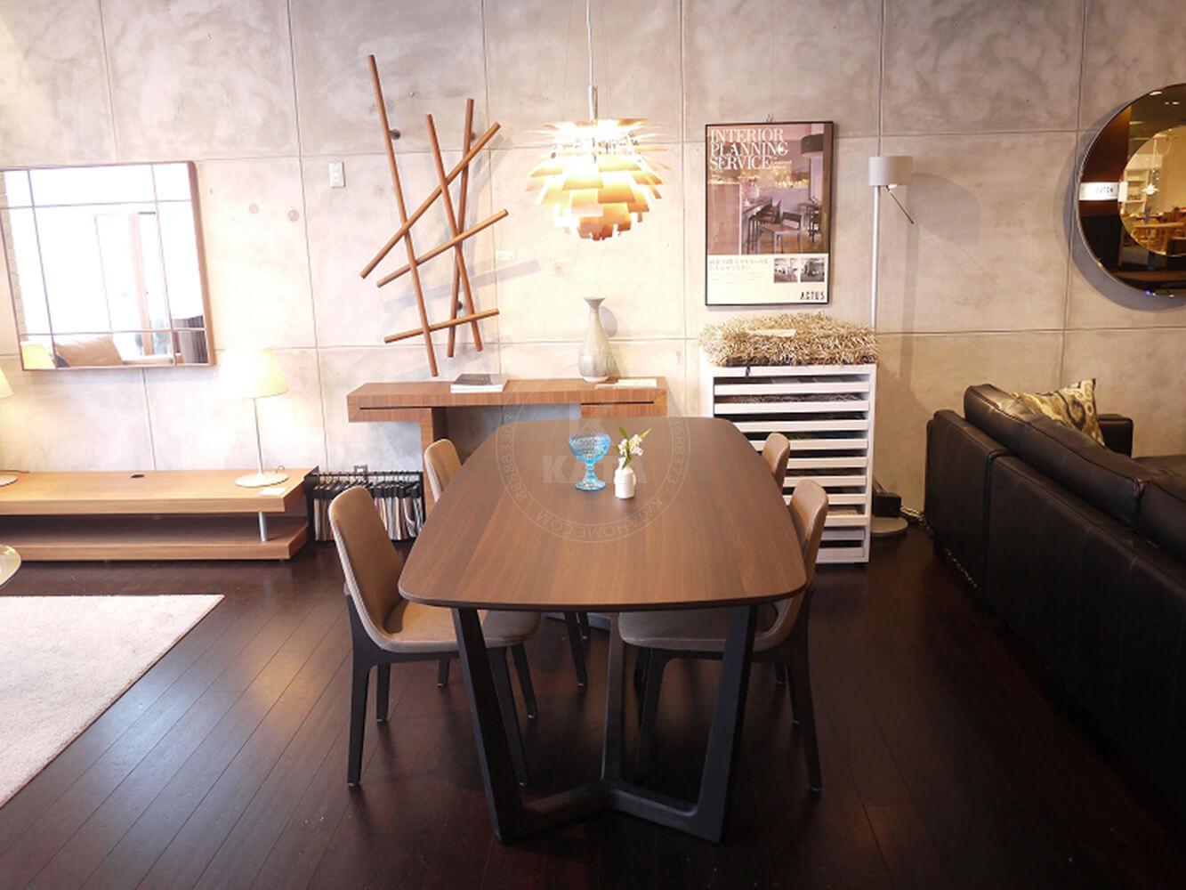Hình ảnh thực tế của bộ bàn ăn Concorde mặt gỗ B111