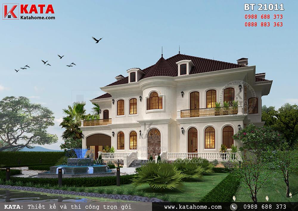 Thiết kế biệt thự nhà vườn 2 tầng Châu Âu tại Vĩnh Phúc – Mã số: BT 21011