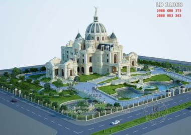 Toàn bộ khung cảnh mẫu thiết kế cung điện lâu đài tại Ninh Bình - Mã số: LD 11068