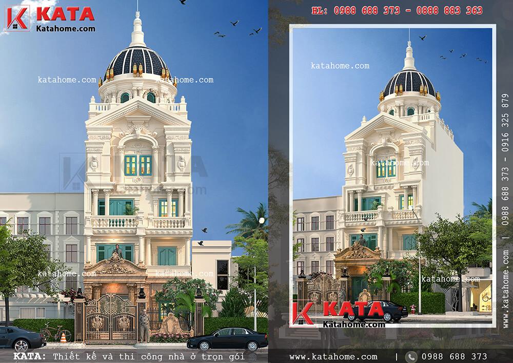 Biệt thự lâu đài phố 5 tầng tân cổ điển tại Hà Nội sang trọng và đẳng cấp ở mọi góc nhìn