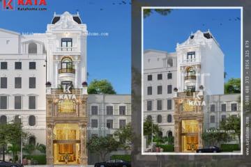 Tổng thể mẫu biệt thự nhà phố tân cổ điển đẹp 6 tầng kiêm cho thuê - Mã số: NP 51025