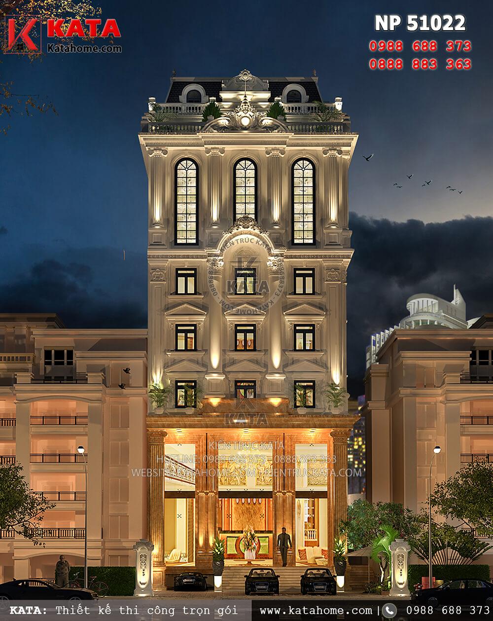 Khách sạn 5 tầng tân cổ điển tại Tam Đảo đạt tiêu chuẩn khách sạn 3 sao lung linh và lộng lẫy khi về đêm