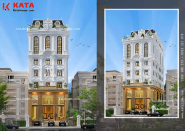 Mẫu thiết kế khách sạn 5 tầng đạt tiêu chuẩn khách sạn 3 sao tại Tam Đảo ấn tượng ở mọi góc nhìn