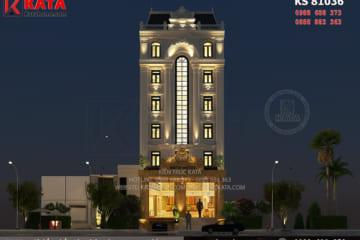 Không gian ngoại thất của mẫu thiết kế nhà nghỉ khách sạn Thanh Hóa hiện lên vô cùng đẹp mắt khi trời về đêm bởi ánh sáng nhân tạo
