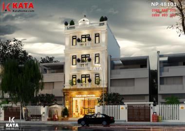 Với cách phối màu tinh tế đã giúp cho tổng thể mẫu thiết kế nhà nghỉ trở nên bắt mắt hơn bao giờ hết - Mã số: NP 48101