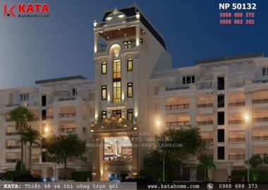 Mẫu thiết kế khách sạn 2 sao 5 tầng kiến trúc tân cổ điển tại Nha Trang