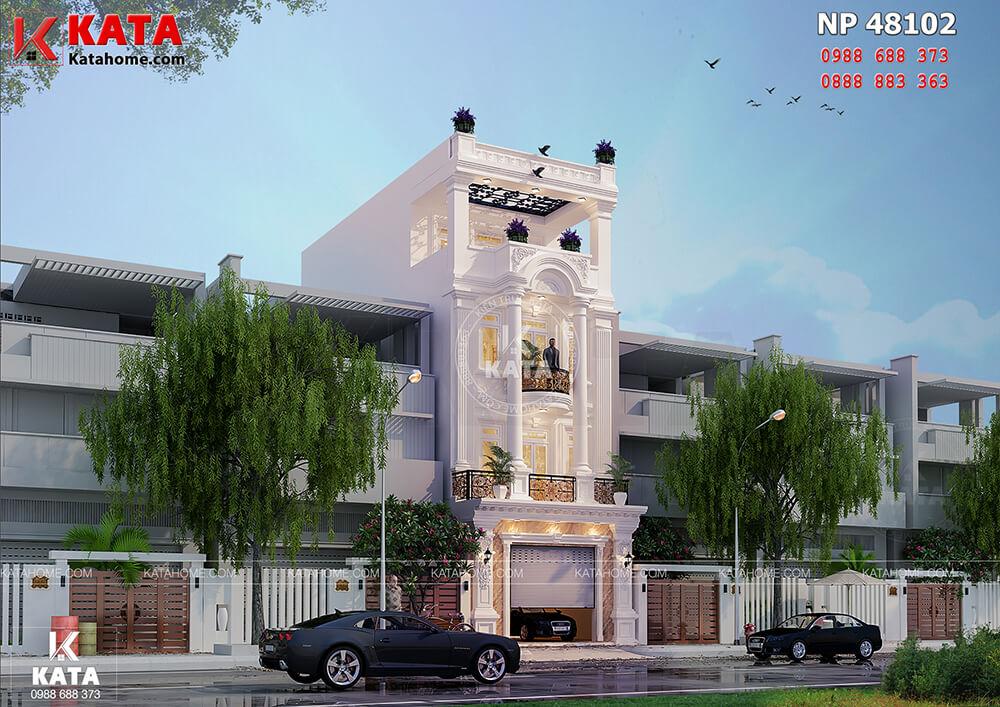 Mẫu nhà ống tân cổ điển đẹp 4 tầng tại Nam Định - Mã số: NP 48012