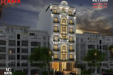 Không gian ngoại thất khách sạn 3 sao Hà Nội được kết hợp với các nguyên vật liệu cao cấp