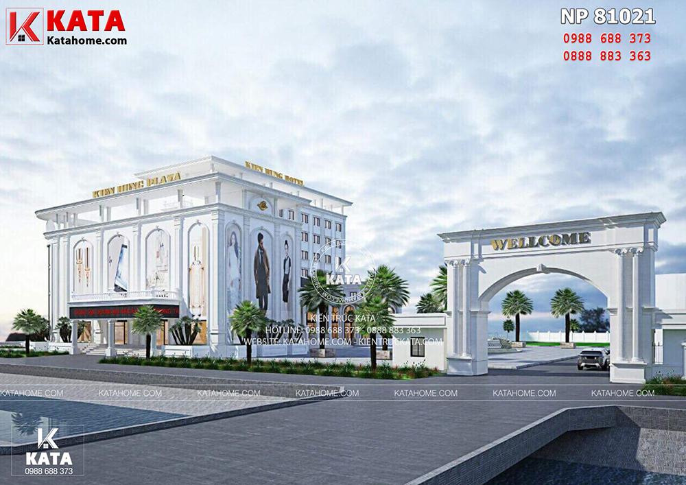 Một góc view của mẫu thiết kế khách sạn đẹp 5 sao tại Thái Bình