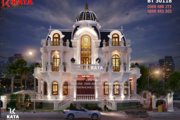 Vẻ đẹp kiến trúc Pháp tân cổ điển giúp cho mẫu nhà tân cổ điển 3 tầng kiểu Pháp trở nên ấn tượng, độc đáo