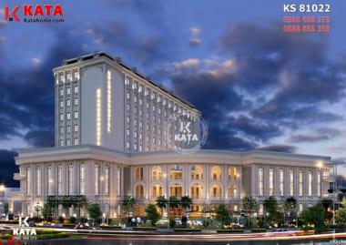 Không gian ngoại thất của mẫu khách sạn tân cổ điển 5sao tại Hà Nội - Mã số: KS 80122