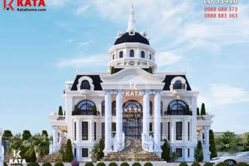 Không gian ngoại thất của mẫu nhà đẹp 3 tầng tân cổ điển đẹp tại Hải Phòng