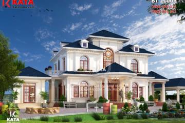 Bản vẽ nhà đẹp 2 tầng mái thái tại Đắk Lắk - Mã số: BT 21006