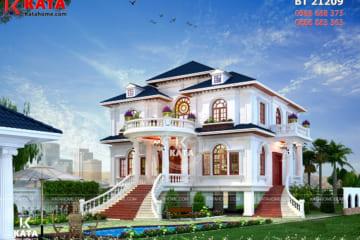 Biệt thự nhà vườn kiểu nhà sàn 2 tầng đẹp tại Thái Nguyên - Mã số: BT 21209
