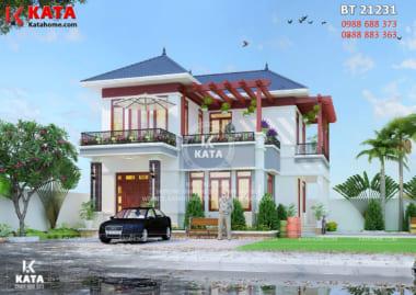 Mẫu biệt thự nhà vườn mái thái 2 tầng đẹp tại Hà Nội - Mã số: BT 21231