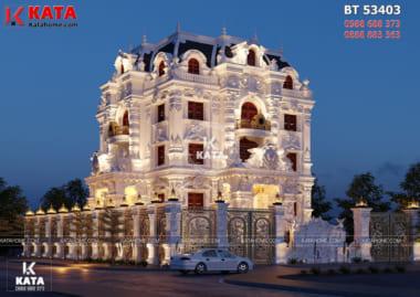 Mẫu biệt thự tân cổ điển đẹp 4 tầng đẹp lung linh đến từng chi tiết
