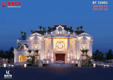 Phối cảnh ngoại thất của mẫu dinh thự tân cổ điển đẹp tại Đà Nẵng - Mã số: BT 23401