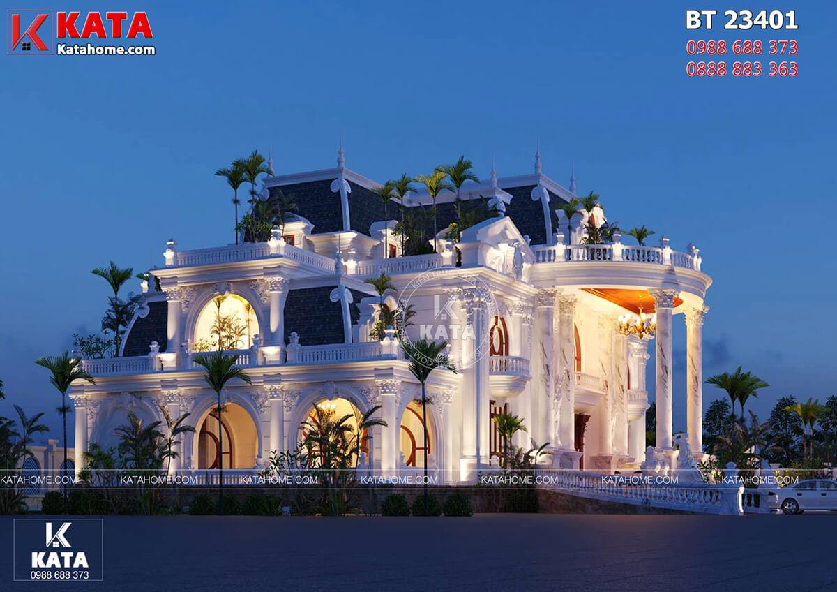 Kiến trúc tân cổ điển đẹp đã mang đến một mẫu dinh thự đẹp và đẳng cấp