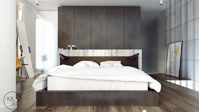 Phòng ngủ đi theo xu hướng cùng tone trung tính, dịu mắt