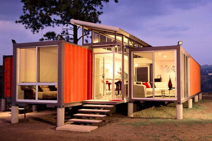 Mẫu thiết kế nhà container đẹp được xây dựng theo phong cách nhà sàn đẹp hút hồn