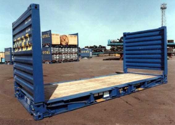 Đặc tính và kích thước Container 20 feet Foot Flat Rack
