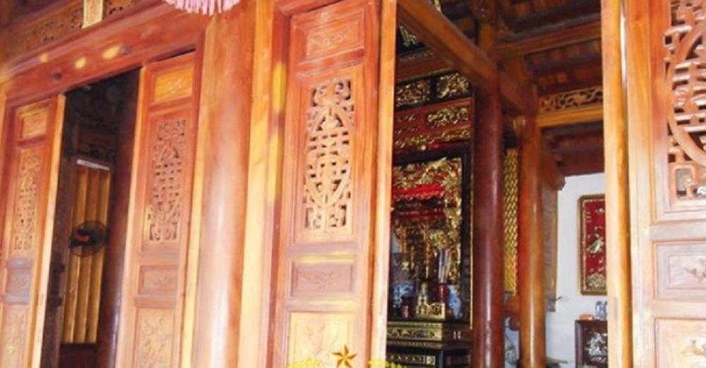 Căn nhà gỗ mít của gia đình ông Nguyễn Khắc Chung (Thị trấn Liên Quan, Thạch Thất, Hà Nội)