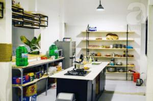 Bếp nấu mở để bạn tự tay vào bếp.