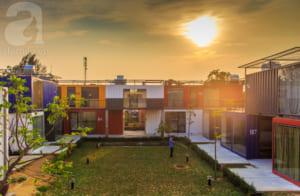 Toàn không gian của khu hostel.