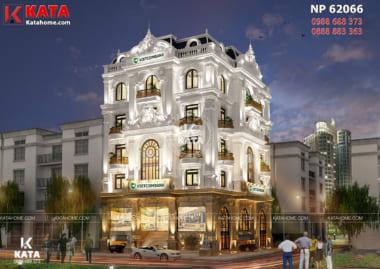 Vẻ đẹp của lối kiến trúc tân cổ điển của mẫu thiết kế nhà ở kết hợp văn phòng cho thuê được các kiến trúc sư thể hiện một cách hoàn hảo