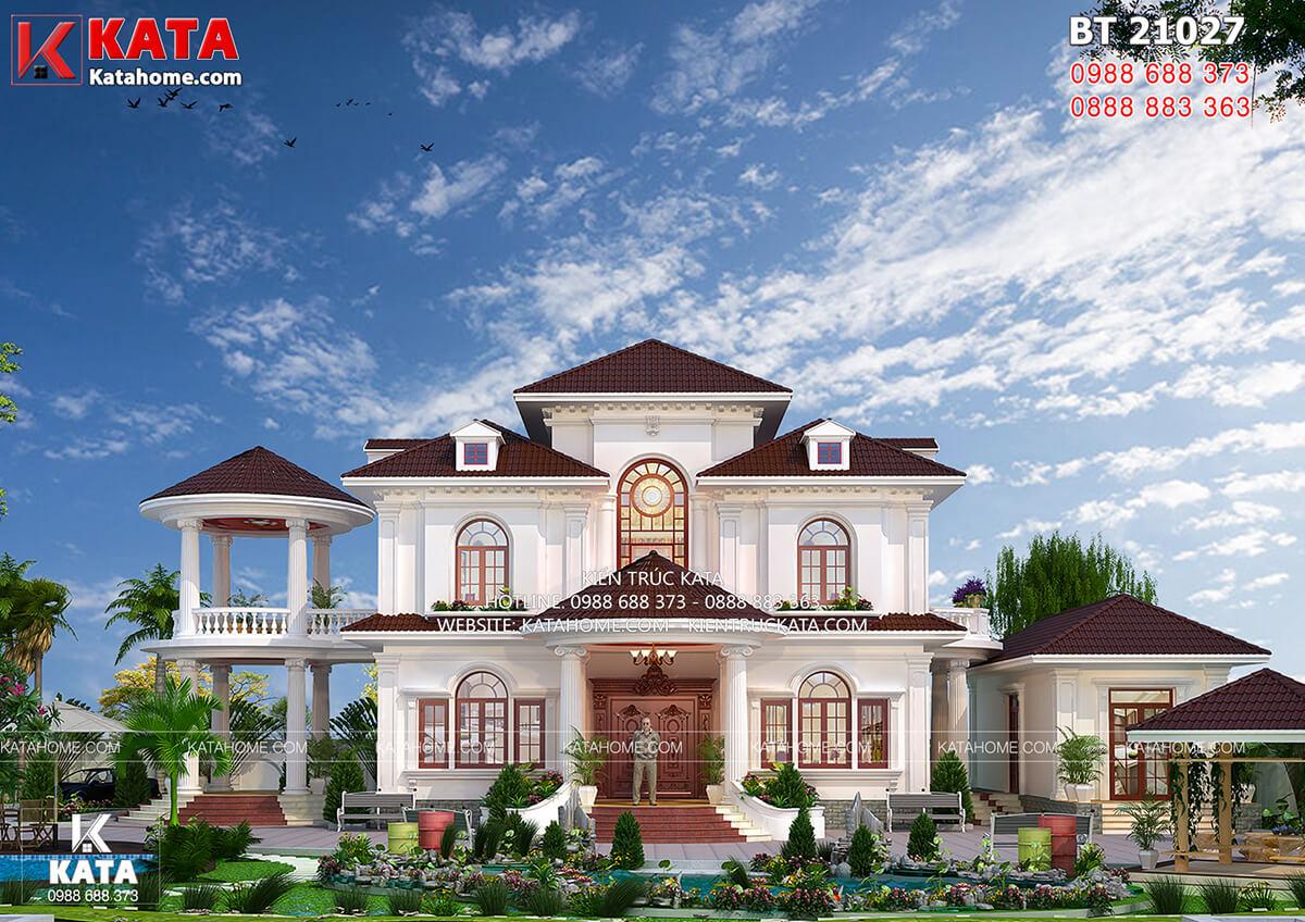 Không gian mặt tiền của mẫu thiết kế nhà đẹp 2 tầng