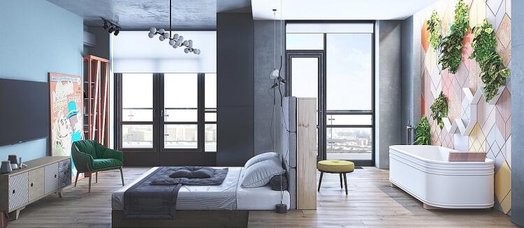10 mẫu phòng ngủ đẹp không lo lỗi mốt - 5