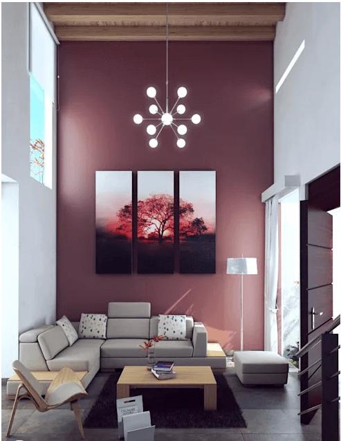 Hồng đất - Trang trí phòng khách