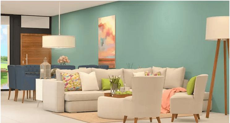 Tone màu Pastel - Trang trí phòng khách
