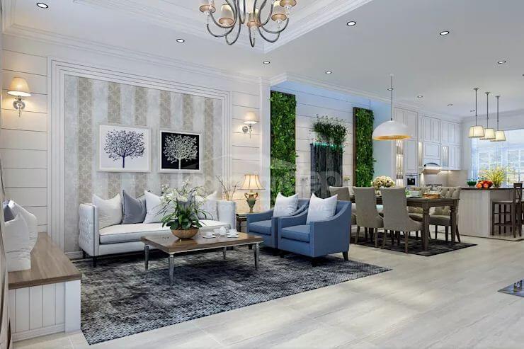 Phong cách Châu Âu thanh lịch - Nội thất phòng khách đẹp