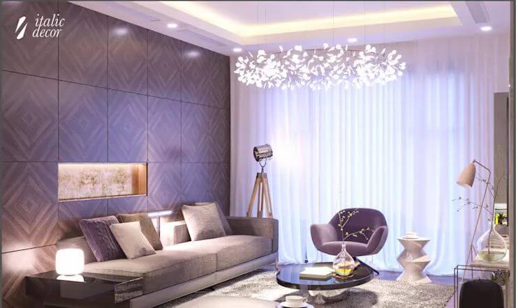 Phong cách lãng mạn và nữ tính - Nội thất phòng khách đẹp