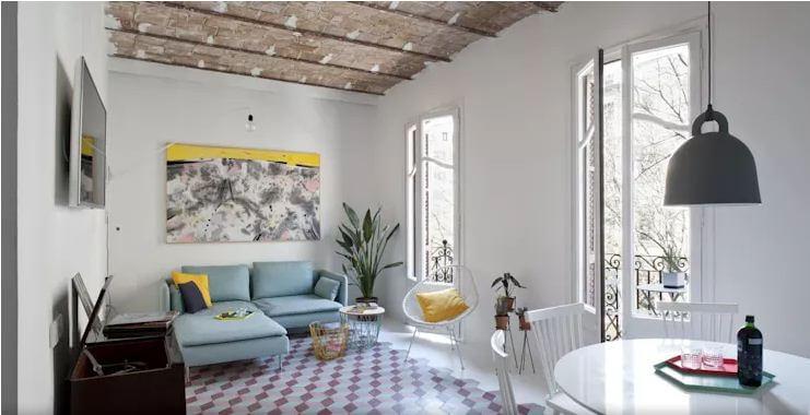 Phong cách đồng quê thư thái - Nội thất phòng khách đẹp