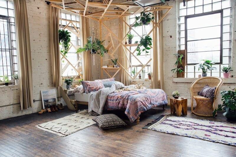 Vườn treo - Trang trí phòng ngủ