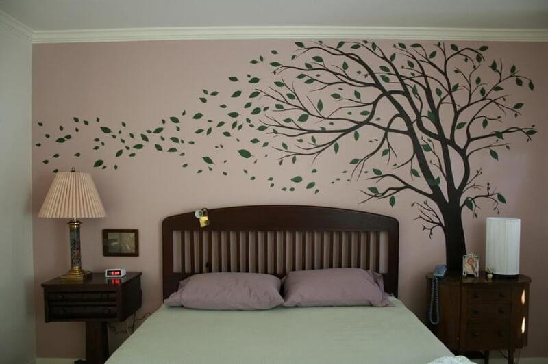 Giấy dán tường họa tiết - Trang trí phòng ngủ