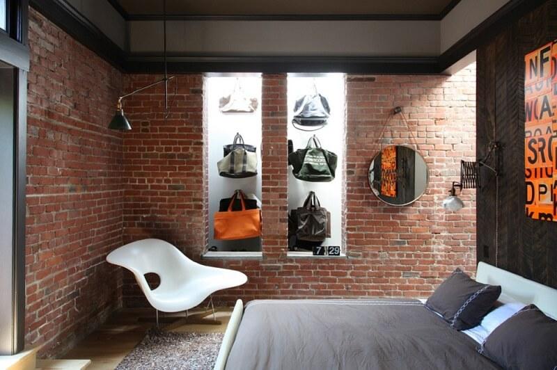 Gạch thô - Trang trí phòng ngủ