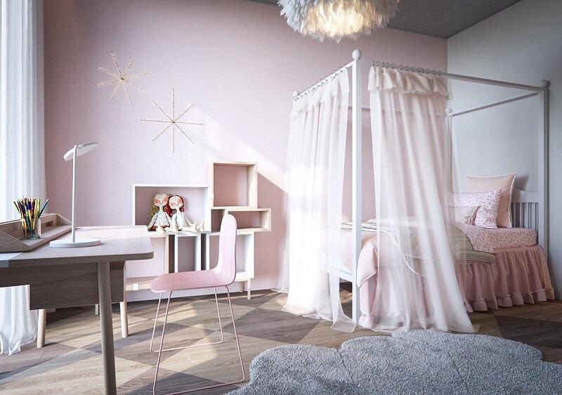 Sử dụng màu sơn tường Pastel - Trang trí phòng ngủ