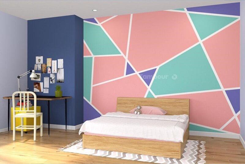 Trang trí tường bằng màu sắc - Trang trí phòng ngủ